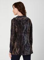 Long Sleeve Cowl Neck Blouse, Blue, hi-res