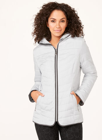 Northside - Hooded Lightweight Coat, Silver, hi-res