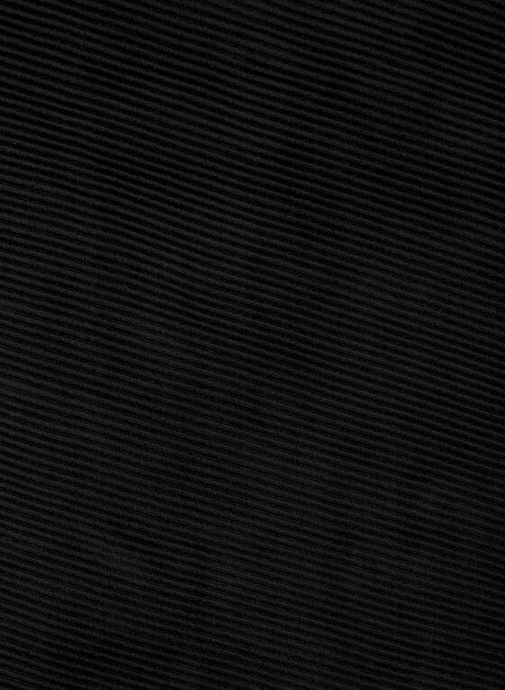 Foulard pashmina plissé, Noir