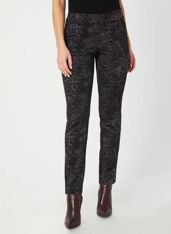 Pantalon coupe moderne en serpent, Violet, hi-res,  pantalon, pull-on, moderne, serpent, jambe étroite, automne hiver 2019