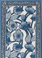 Glitter Floral Scarf, Blue, hi-res
