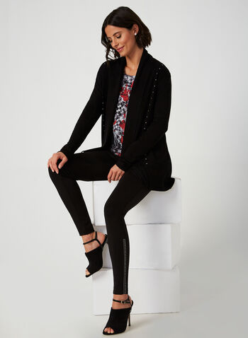 Beaded Leggings, Black,  fall winter 2019, leggings, pull-on, essential
