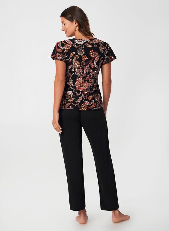 Hamilton - Paisley Print Pyjama, Red