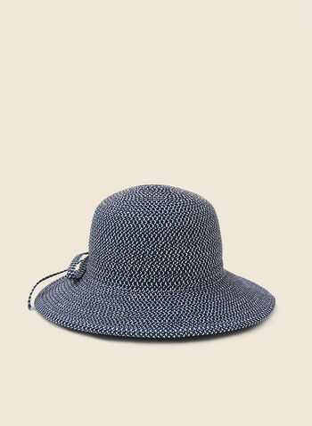 Bow Detail Cloche Hat, Blue,  hat, straw, cloche, bow, spring summer 2020