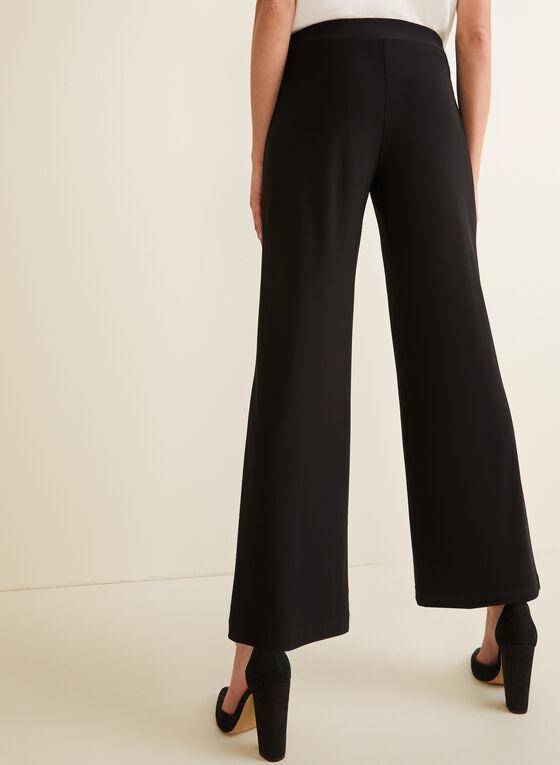 Wide Leg Jersey Pants, Black