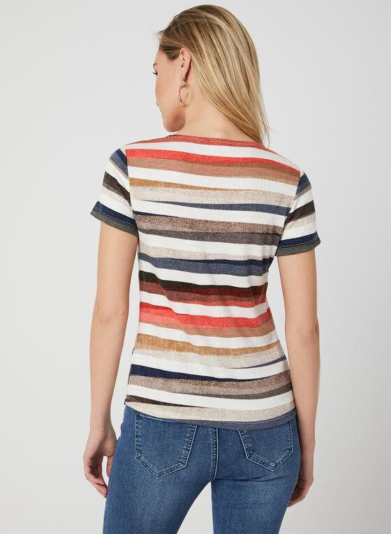 Stripe Print Ribbed Top, Multi, hi-res