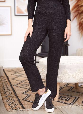Pantalon à enfiler à jambe droite, Gris,  pantalon, bas, jogging, fait au canada, à enfiler, pull-on, jambe droite, chinée, tricot, automne hiver 2021