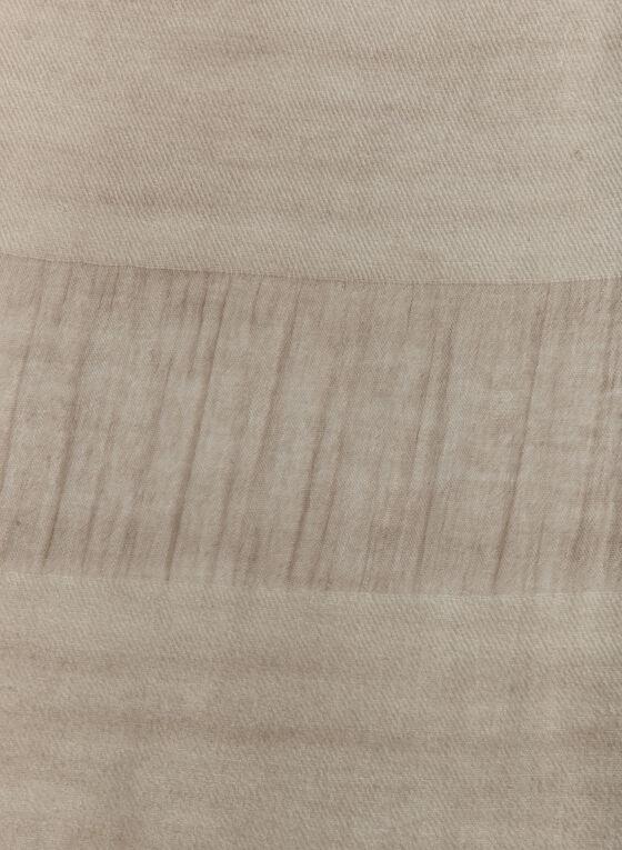 Foulard pashmina rayé à petites franges, Blanc cassé, hi-res