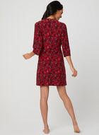 René Rofé - Rose Print Nightshirt & Robe Set, Red, hi-res