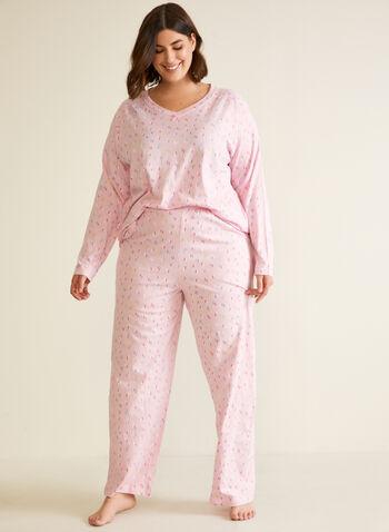 Ensemble pyjama à motif confettis, Multi,  automne hiver 2020, ensemble, pyjama