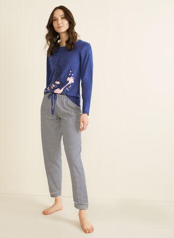 Karmilla Lingerie - Pyjama 2 pièces motif Paris, Violet,  pyjama, haut, pantalon, Paris, Tour Eiffel, coton, automne hiver 2019
