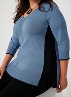 V-Neck Sweater, Blue, hi-res