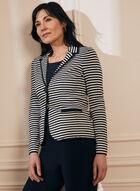 Striped Knit Blazer, Blue