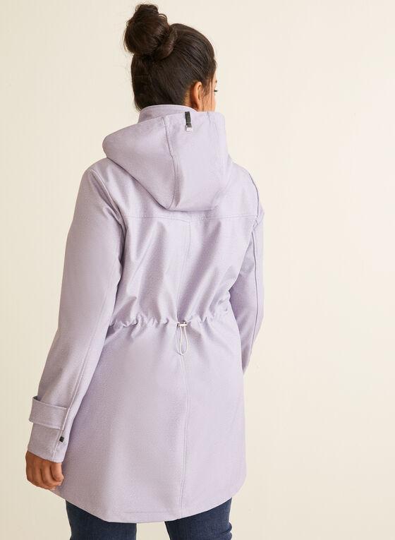 Novelti - Manteau à chevrons et capuchon amovible, Violet
