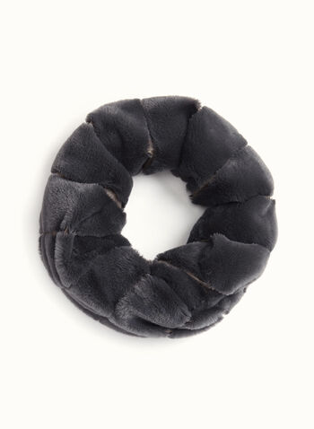 Rabbit Fur Tube Scarf , Grey, hi-res