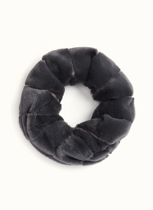 Rabbit Fur Tube Scarf , Grey, hi-res