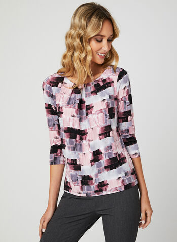 Abstract Print Blouse, Multi, hi-res