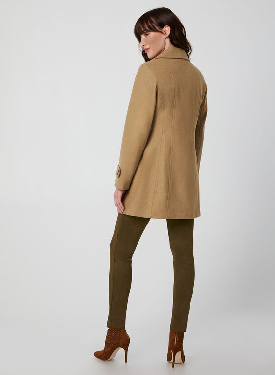 Anne Klein - Manteau mi-long en laine, Brun