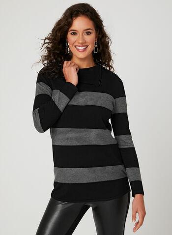 Pull en tricot ottoman , Noir, hi-res