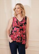 Sleeveless Floral Print Blouse, Pink