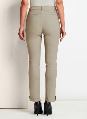 Modern Fit Slim Leg ⅞ Pants, Brown, hi-res