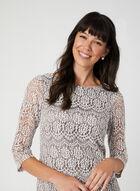 Sequin Lace Dress, Brown, hi-res