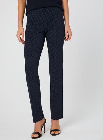 City Fit Slim Leg Pants, Blue, hi-res,