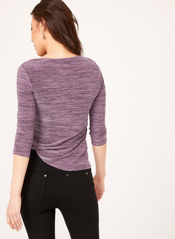 Drape Effect Layered Top , Purple, hi-res