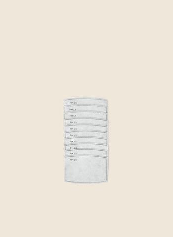 Ensemble de 10 filtres pour masque, Blanc,  automne hiver 2020, masques, filtres