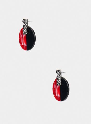 Boutons d'oreilles à deux tons, Rouge, hi-res,  automne hiver 2019, boucles d'oreilles, bijou, accessoire, deux tons