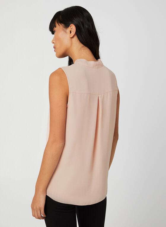 Sleeveless Crepe Blouse, Pink