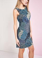 Paisley Print Sheath Dress, Orange, hi-res