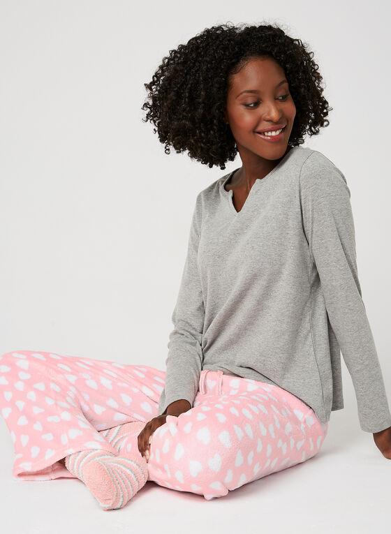 Pillow Talk - 3-Piece Pyjama Set With Socks, Multi, hi-res
