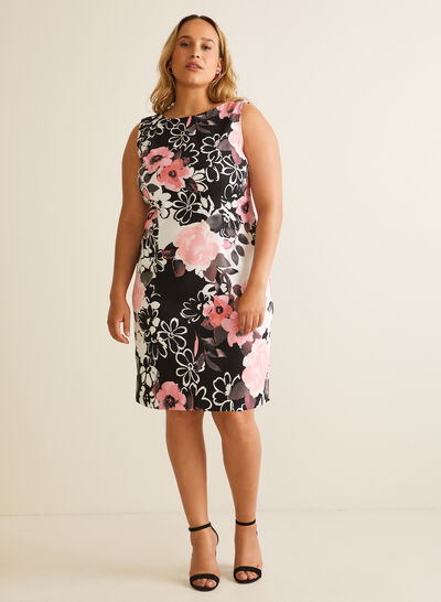Floral Print Sleeveless Day Dress