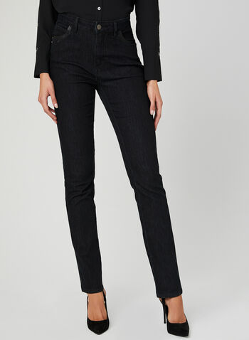 Simon Chang - Signature Fit Slim Leg Jeans, Black, hi-res