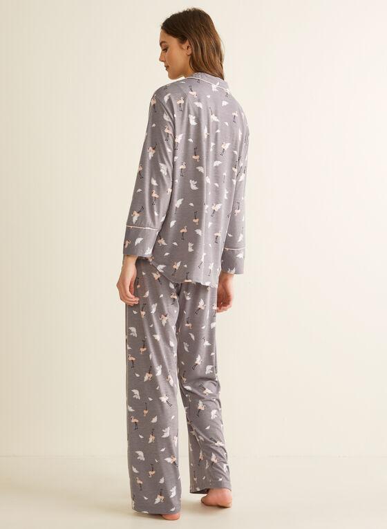 Comfort & Co. - Pyjama à flamants roses, Gris