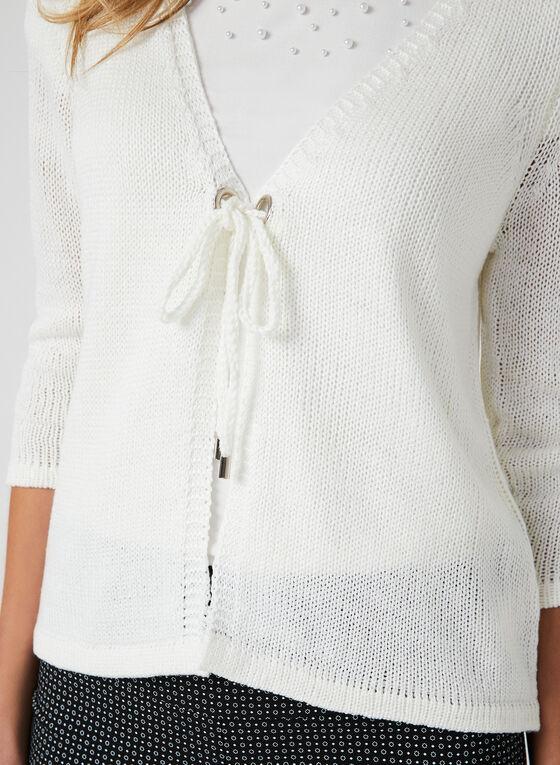 Alison Sheri - Knit Cardigan, White