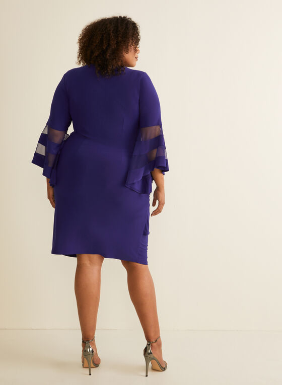 Bell Sleeve Jersey Dress , Blue