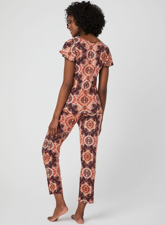 Hamilton - Mixed Print Pyjama Set, Blue, hi-res