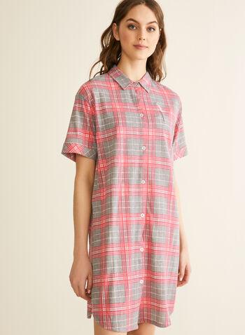 Comfort & Co. - Chemise de nuit à carreaux, Gris,  printemps été 2020, chemise de nuit, pyjama, Comfort & Co