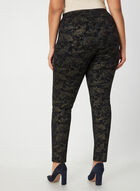 City Fit Paisley Print Pants, Black