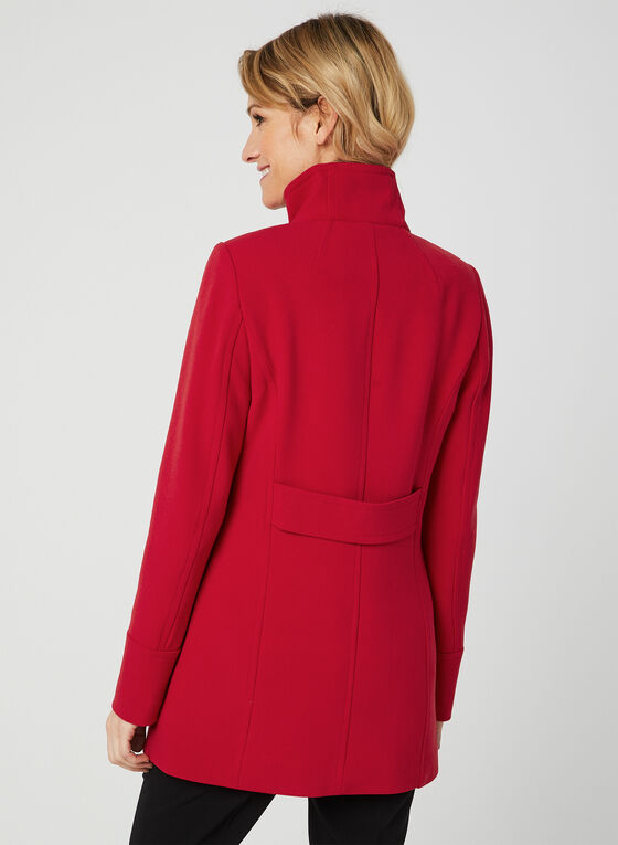 Nuage - Standing Collar Coat, Red