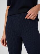 Pantalon pull-on coupe cité à pois, Bleu, hi-res