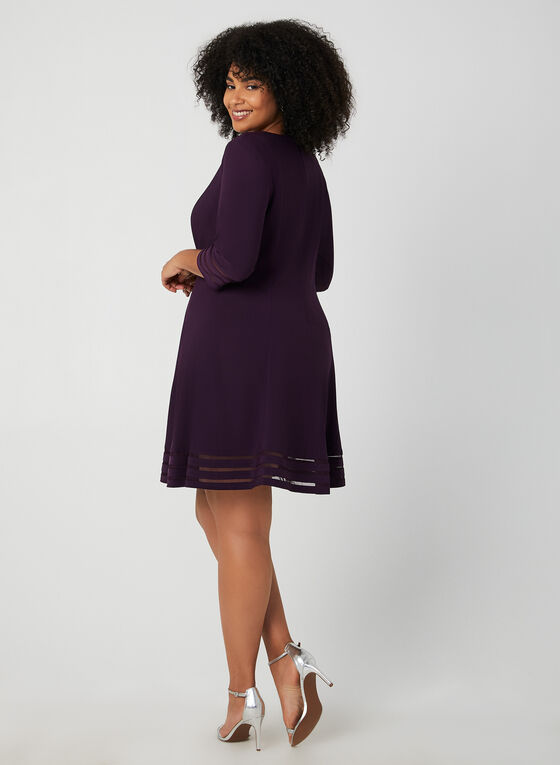 Jessica Howard - Mesh Detail Dress, Purple