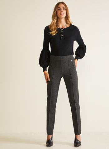 Puffed Sleeve Sweater, Black,  sweater, puffed sleeve, wool, fall winter 2020