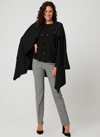 Charlie B - Pearl Embellished Sweater, Black, hi-res