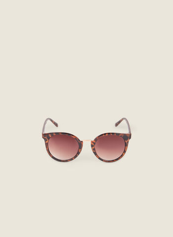Round Tortoise Print Sunglasses, Brown,  sunglasses, round sunglasses, tortoise, spring 2020, summer 2020