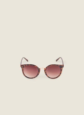 Lunettes de soleil papillon écaille de tortue, Brun,  lunettes de soleil, écaille de tortue, plastique, doré, papillon, printemps été 2020