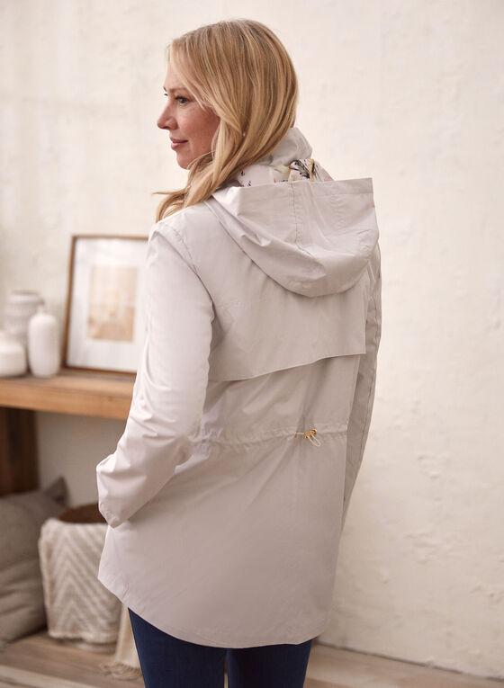 Kensie - Manteau imperméable à capuchon, Argent