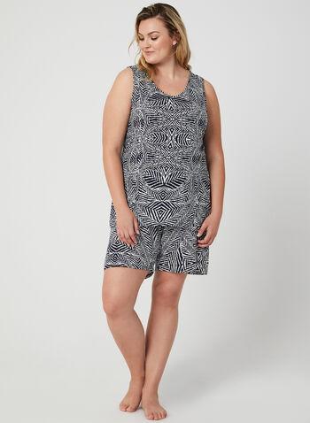 Hamilton – Cami Shorts Pyjama Set, Black, hi-res,  animal print, aztek print, leaf print, abstract print, spring summer 2019